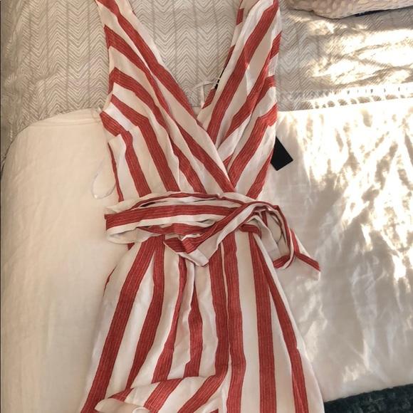 7c8d2c96d8a5 NWT Lulu s PIER PLEASURE RED WHITE STRIPED ROMPER